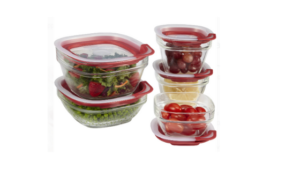 rubbermaid glass food storage containers