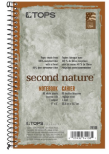 tops second nature notebook