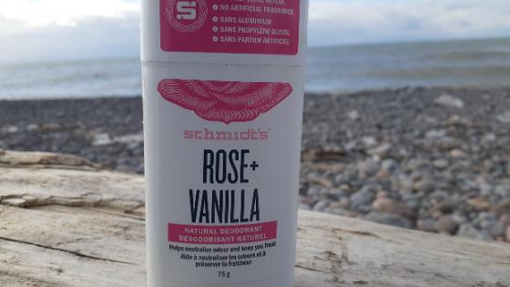 Schmidt's rose and vanilla natural stick deodorant