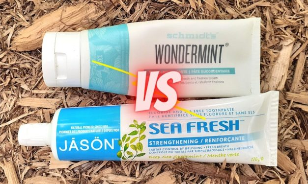 Schmidt's Wondermint VS Jason Sea Fresh Toothpaste